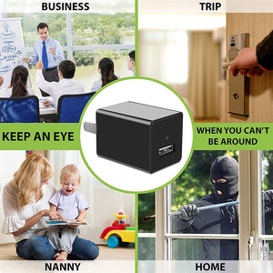 1080P HD Hidden Camera USB Wall Charger (SD Card Not Included)