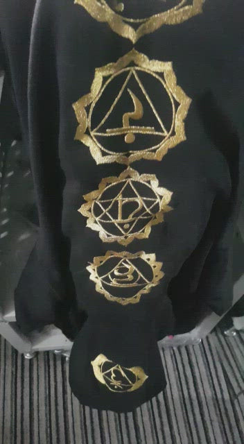 Chakra Hoodie Embroidered Gold Edition