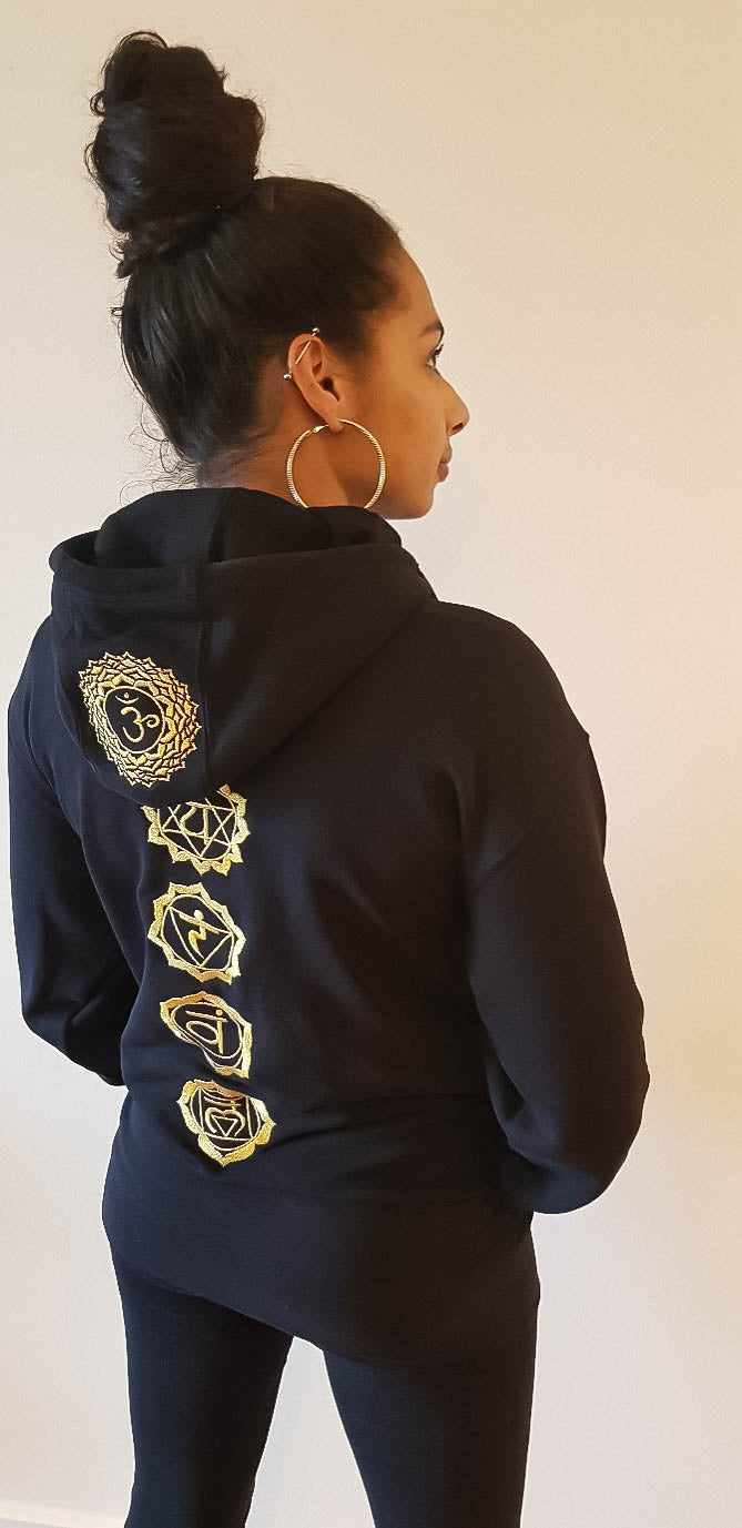 Chakra Hoodie Embroidered Gold Edition - St Lucia Sea Moss