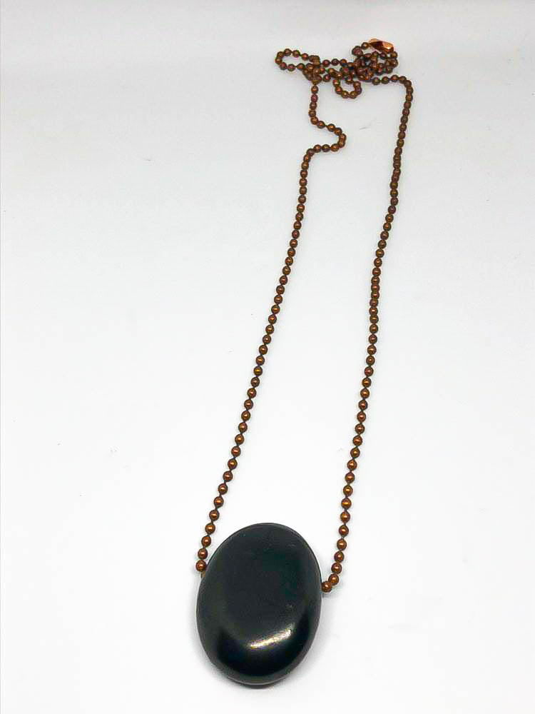 Shungite on Copper Chain - St Lucia Sea Moss Organic Buy UK