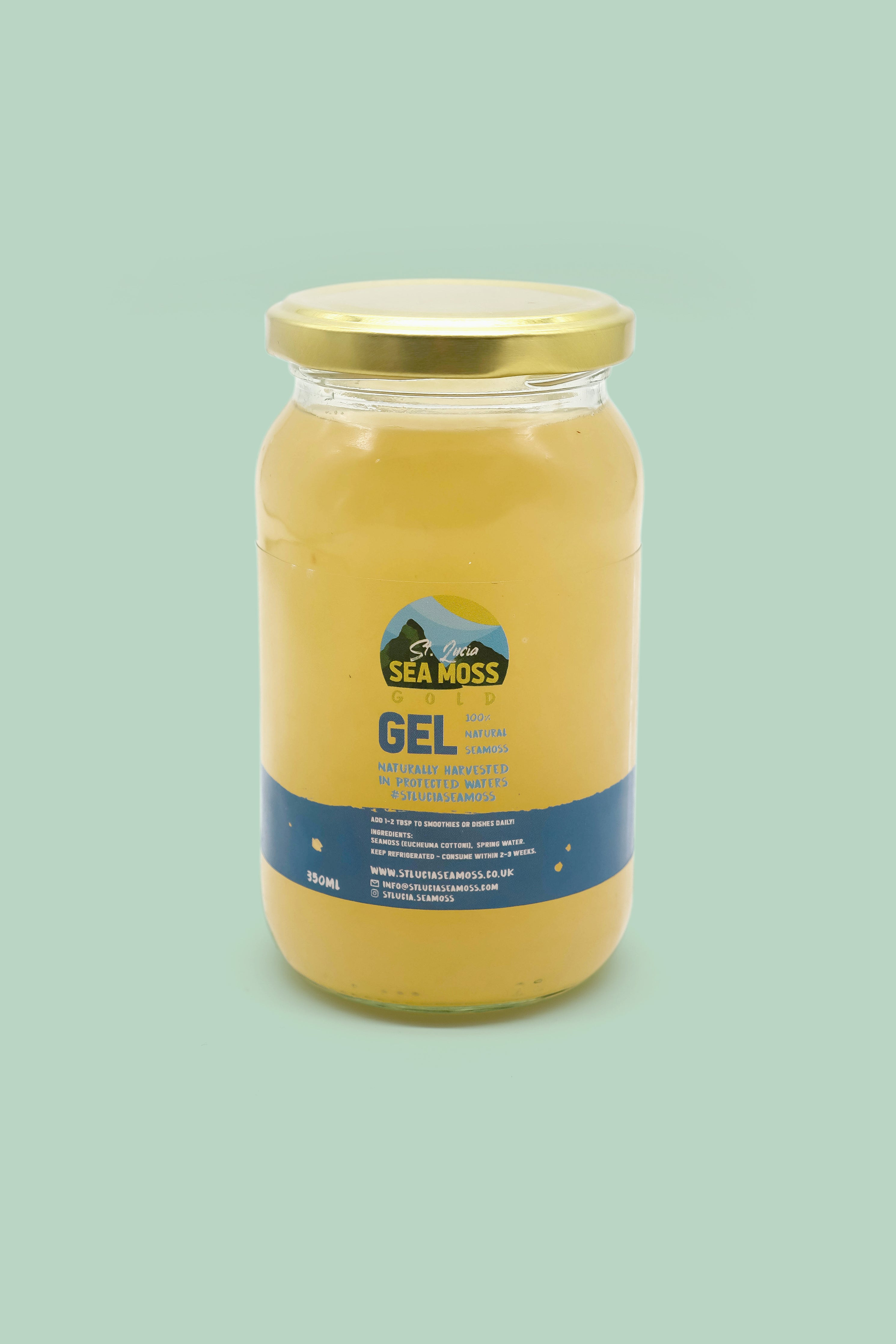 Gold St Lucia Sea Moss Gel 350ml - St Lucia Sea Moss Organic Buy UK