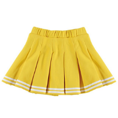 Kids Clothes Designer Yporque - Yellow Pleated Sport Skirt at Bloom Moda Online Children's Designer Clothes Boutique