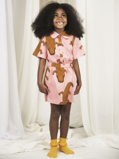 Mini Rodini Crocco Woven Pink Skirt at Bloom Moda Online Kids' Clothing Boutique