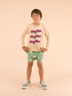 Tinycottons Hello Pleat Shorts at Bloom Moda Online Kids' Clothing Boutique