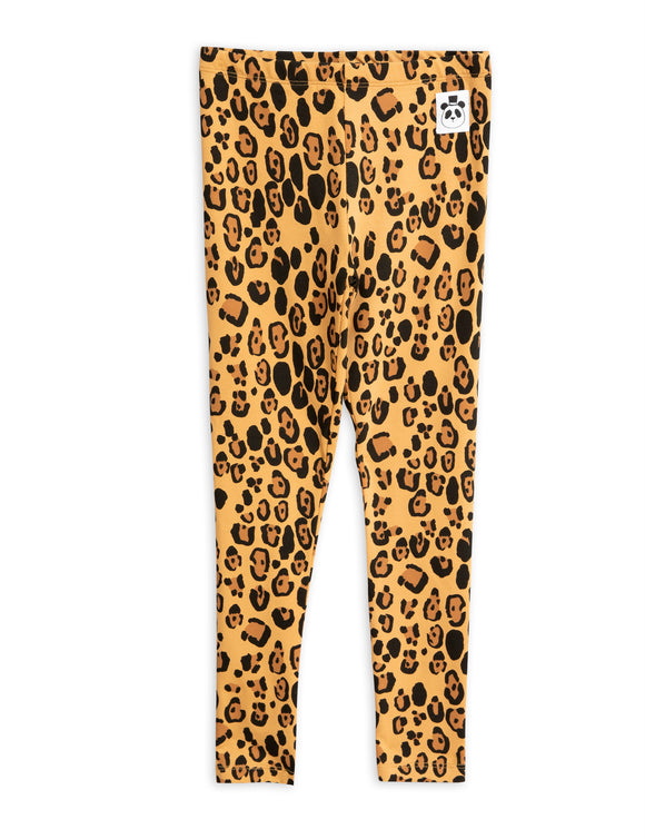 Designer Kids Fashion at Bloom Moda Online Children's Boutique - Mini Rodini Basic Leopard Leggings,  Pants
