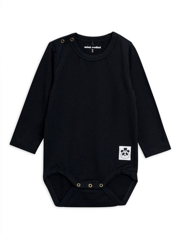 Designer Kids Fashion at Bloom Moda Online Children's Boutique - Mini Rodini Basic Black Body,  Bodies