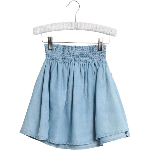 Designer Kids Fashion at Bloom Moda Online Children's Boutique - Wheat Denim Netty Skirt,  Skirt