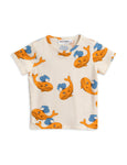 Designer Kids Fashion at Bloom Moda Online Children's Boutique - Mini Rodini Printed Whale T-Shirt,  Shirt