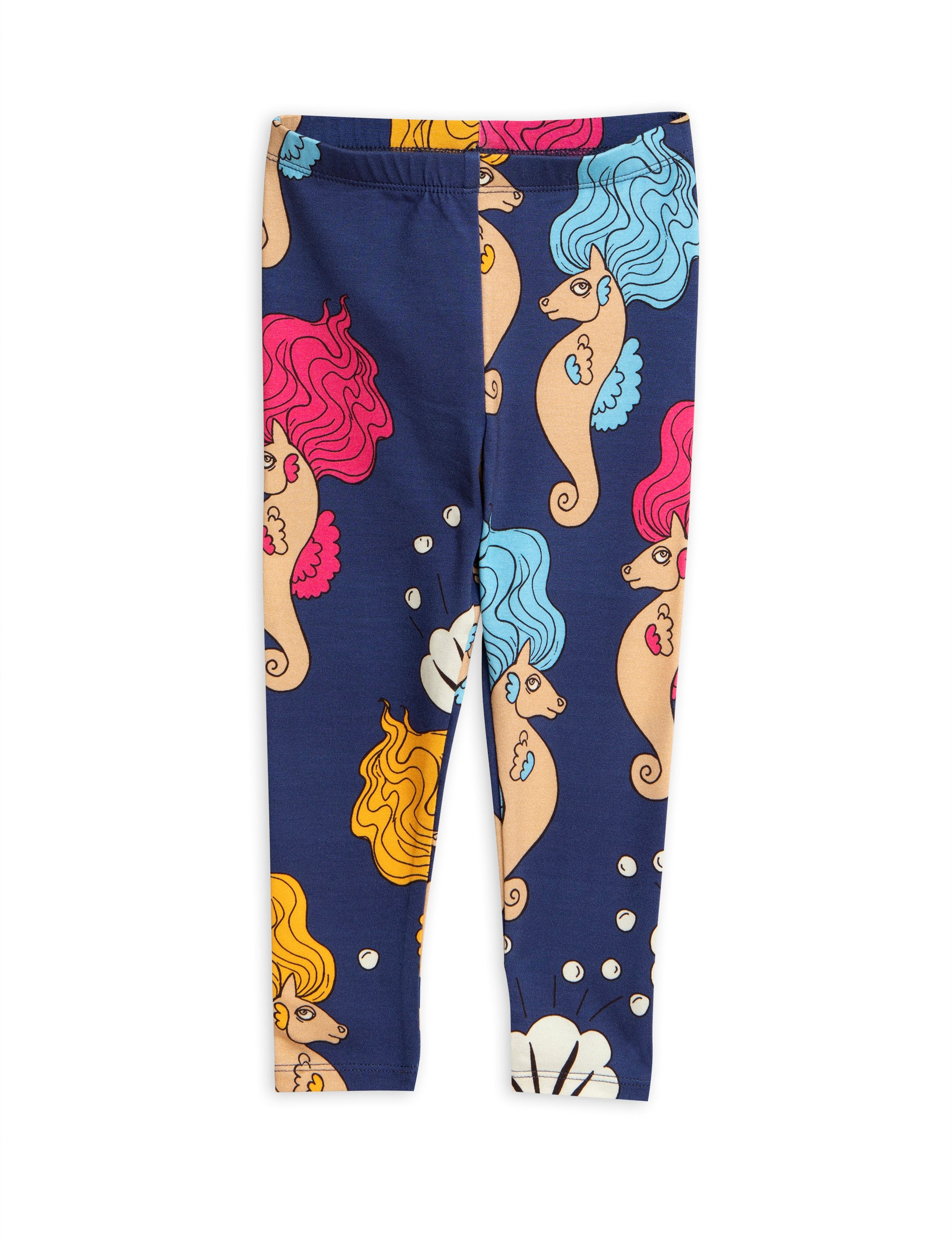 Designer Kids Fashion at Bloom Moda Online Children's Boutique - Mini Rodini Printed Seahorse Leggings,  Pants