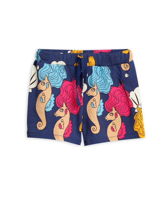 Designer Kids Fashion at Bloom Moda Online Children's Boutique - Mini Rodini Printed Seahorse Shorts,  Pants