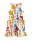 Designer Kids Fashion at Bloom Moda Online Children's Boutique - Mini Rodini Seahorse Flounce Dress,  Dress