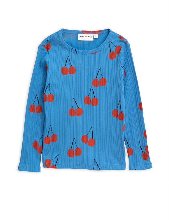 Designer Kids Fashion at Bloom Moda Online Children's Boutique - Mini Rodini Cherry Long Sleeve T-Shirt,  Shirt