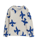 Designer Kids Fashion at Bloom Moda Online Children's Boutique - Mini Rodini Flying Birds Grandpa Shirt,  Shirt