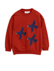 Designer Kids Fashion at Bloom Moda Online Children's Boutique - Mini Rodini Flying Birds Sweatshirt,  Shirt
