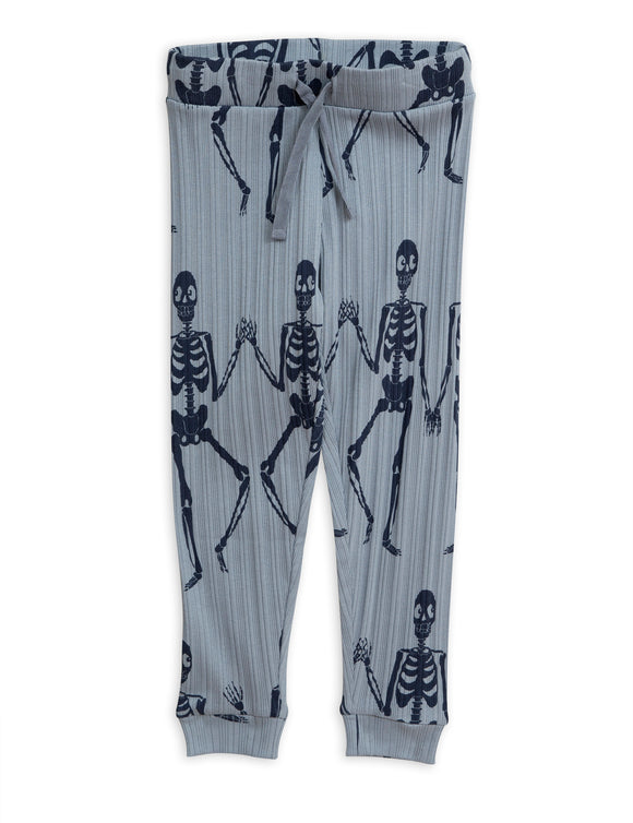 Designer Kids Fashion at Bloom Moda Online Children's Boutique - Mini Rodini Skeleton Jersey Trousers,  Pants