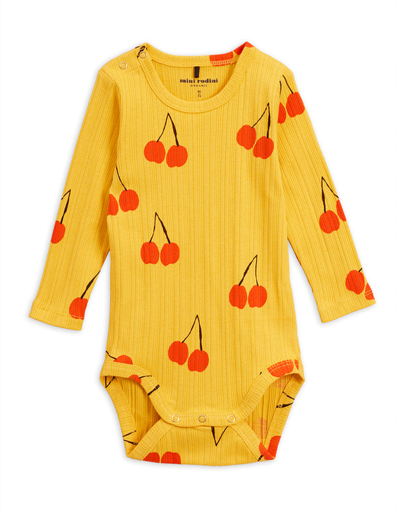 Designer Kids Fashion at Bloom Moda Online Children's Boutique - Mini Rodini Cherry Long Sleeve Body,  Bodies