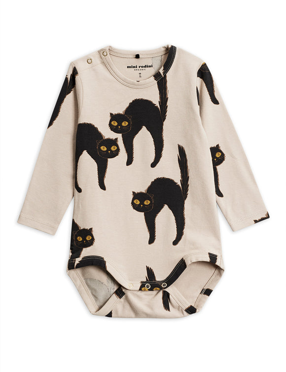 Designer Kids Fashion at Bloom Moda Online Children's Boutique - Mini Rodini Cat Long Sleeve Body,  Bodies