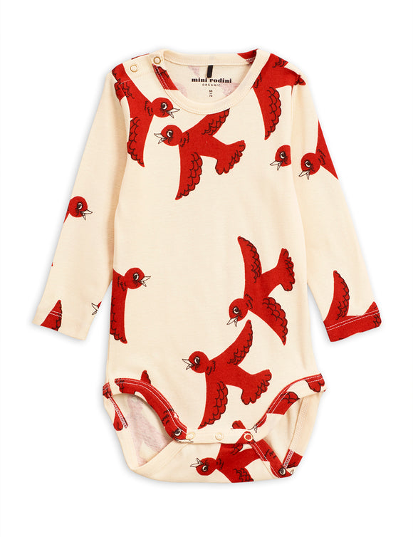 Mini Rodini Flying Birds Long Sleeve Body