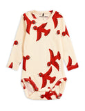 Designer Kids Fashion at Bloom Moda Online Children's Boutique - Mini Rodini Flying Birds Long Sleeve Body,  Bodies