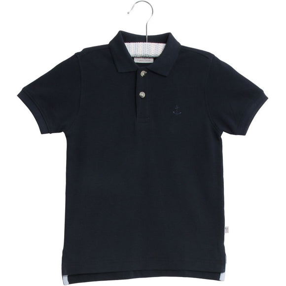 Designer Kids Fashion at Bloom Moda Online Children's Boutique - Wheat Anchor Polo,  Shirt