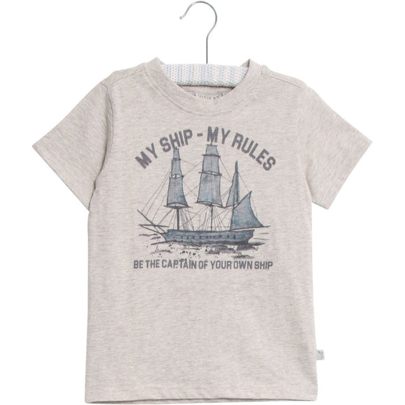 Designer Kids Fashion at Bloom Moda Online Children's Boutique - Wheat Ship T-Shirt,  Shirt
