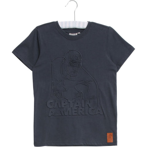Designer Children's Fashion: Bloom Moda Online Kids Boutique - Disney Wheat Captain America T-Shirt,  Shirt