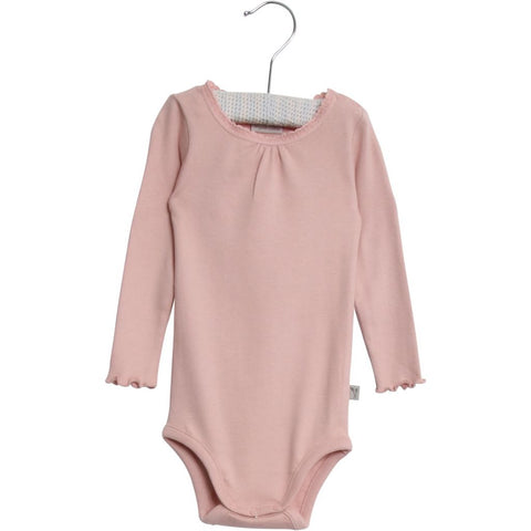 Designer Children's Fashion: Bloom Moda Online Kids Boutique - Wheat Ribbed Body with Lace,  Bodies