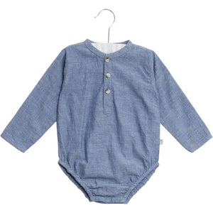 Designer Children's Fashion: Bloom Moda Online Kids Boutique - Wheat Victor Romper Shirt,  Bodies