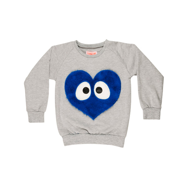 Designer Kids Fashion at Bloom Moda Online Children's Boutique - Wauw Capow by BangBang Blue Heart Sweatshirt,  Sweatshirt
