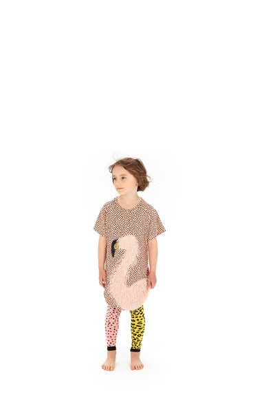 Designer Kids Fashion at Bloom Moda Online Children's Boutique - Wauw Capow by BangBang Flamingo Dress,  Dress
