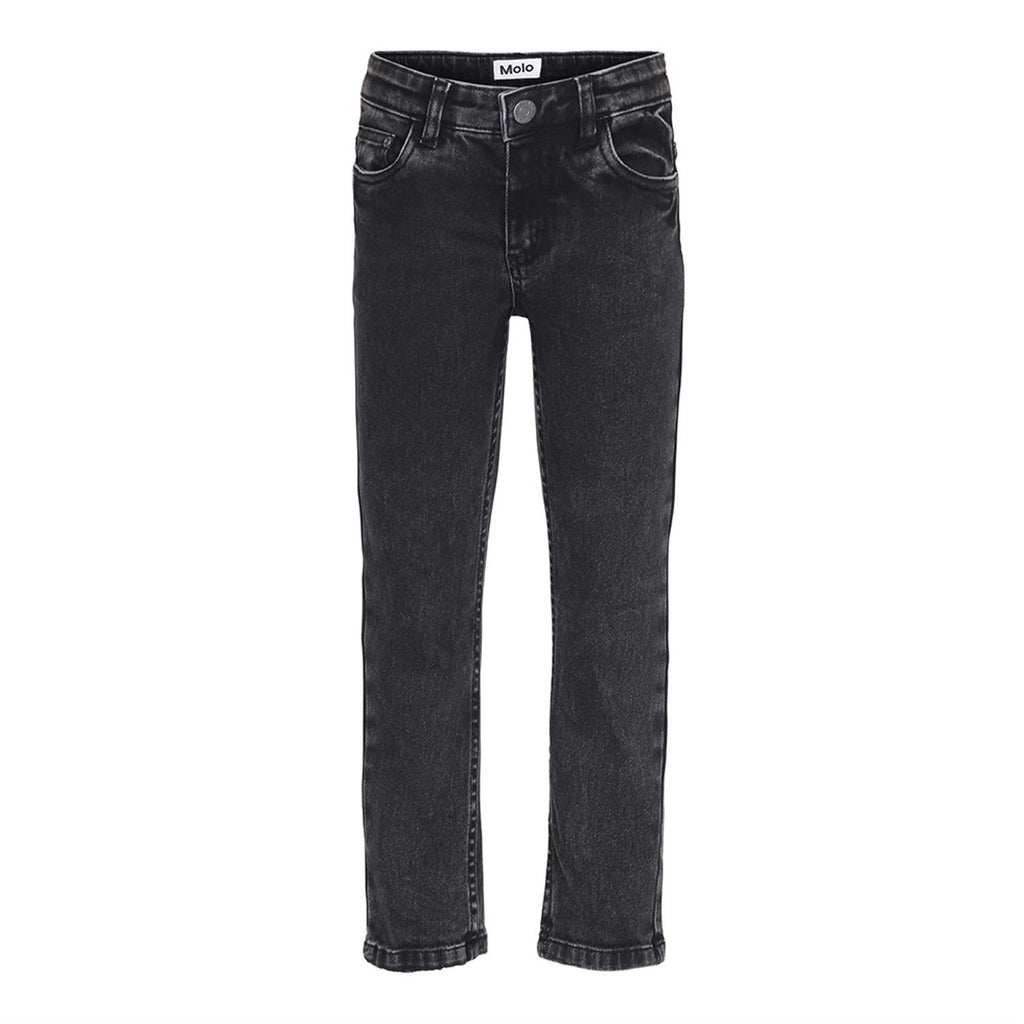 Designer Kids Fashion at Bloom Moda Online Children's Boutique - Molo Alon Stone Washed Black Jeans,  Pants