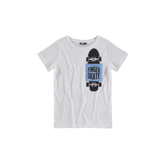 Designer Kids Fashion at Bloom Moda Online Children's Boutique - Yporqué Finger Skate Graphic Tee,  Shirt