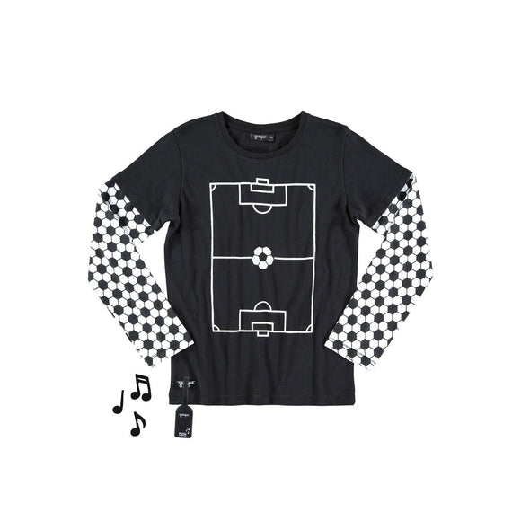 Designer Kids Fashion at Bloom Moda Online Children's Boutique - yporqué© Football Tee with Sound,  Shirt