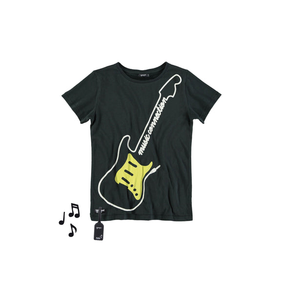 Designer Kids Fashion at Bloom Moda Online Children's Boutique - Yporqué Guitar Tee with Sound,  Shirt