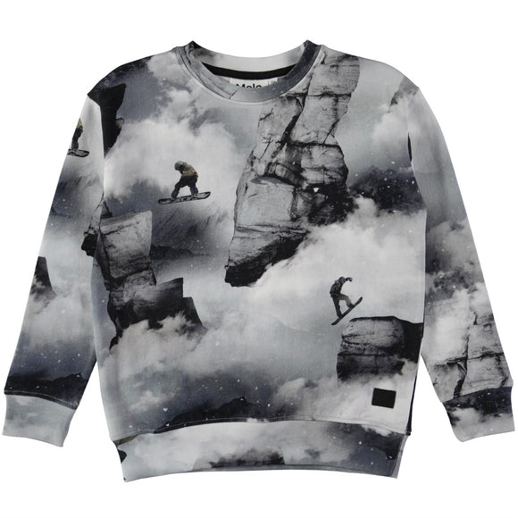 Designer Kids Fashion at Bloom Moda Online Children's Boutique - Molo Morell Snowboarders Sweatshirt,  Shirt