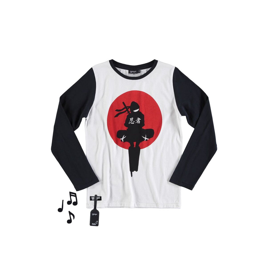 Designer Kids Fashion at Bloom Moda Online Children's Boutique - yporqué© Ninja Tee with Sound,  Shirt