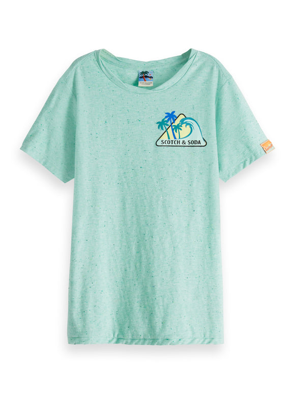 Designer Kids Fashion at Bloom Moda Online Children's Boutique - Scotch & Soda Colourful Nepped Tee,  Shirt