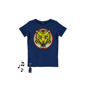 Designer Kids Fashion at Bloom Moda Online Children's Boutique - Yporqué Tiger Tee with Sound,  Shirt