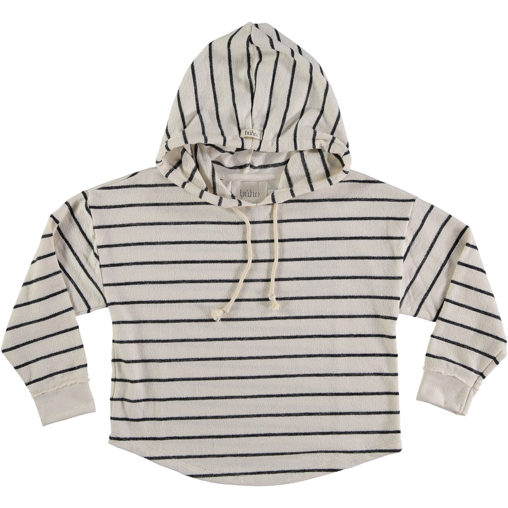 Designer Kids Fashion at Bloom Moda Online Children's Boutique - Búho Willy Navy Stripes Hood Sweater,  Shirt