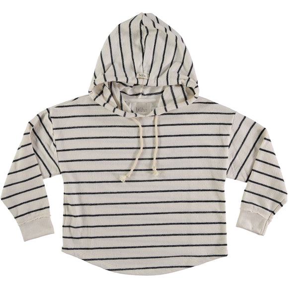 Búho Willy Navy Stripes Hood Sweater - Bloom Moda