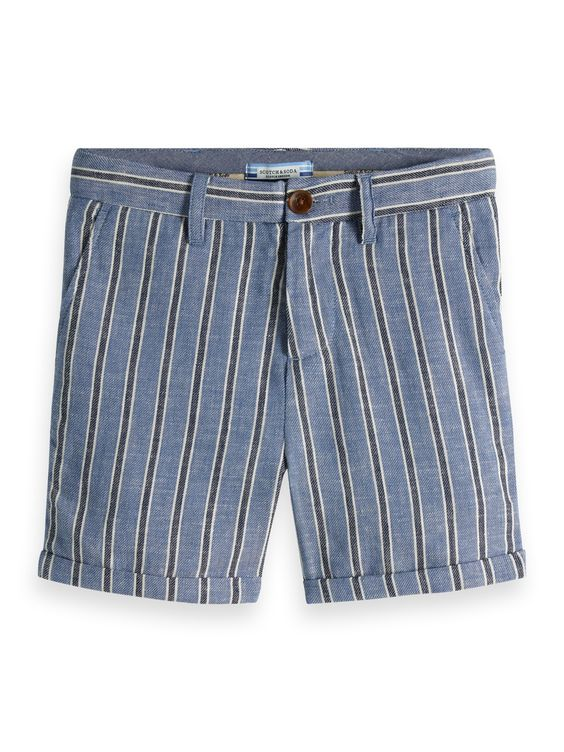 Designer Kids Fashion at Bloom Moda Online Children's Boutique - Scotch & Soda Raffia Striped Shorts,  Pants
