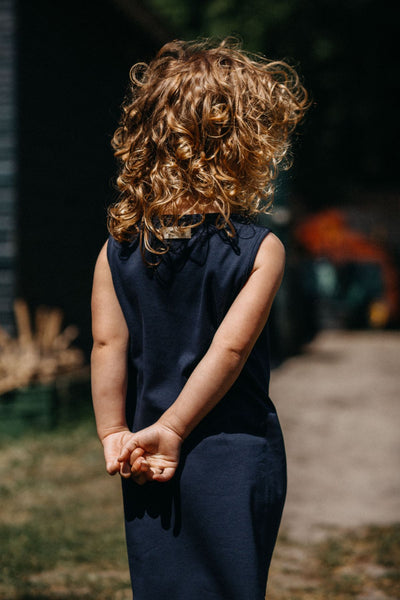 Designer Kids Fashion at Bloom Moda Online Children's Boutique - Little Hedonist Sophia Dress - Pirate Black,  Dress