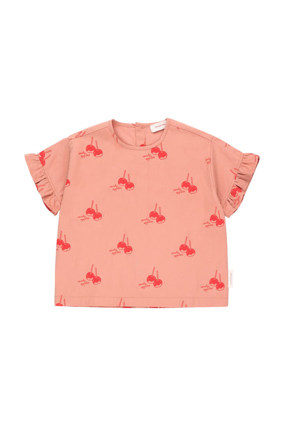 Designer Kids Fashion at Bloom Moda Online Children's Boutique - Tinycottons Candy Apples Frills Blouse,  Shirt