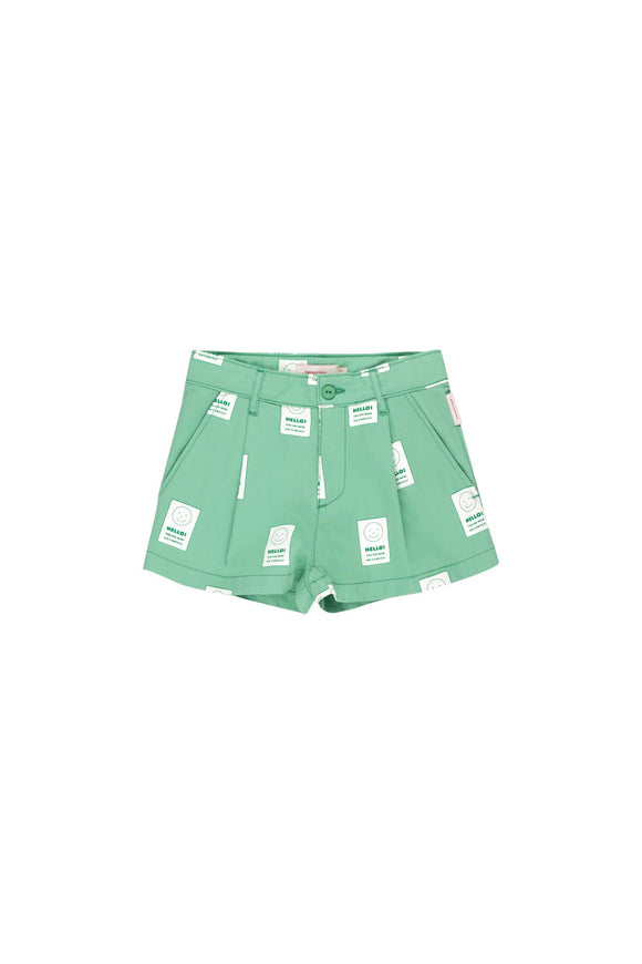 Designer Kids Fashion at Bloom Moda Online Children's Boutique - Tinycottons Hello Pleat Shorts,  Shorts
