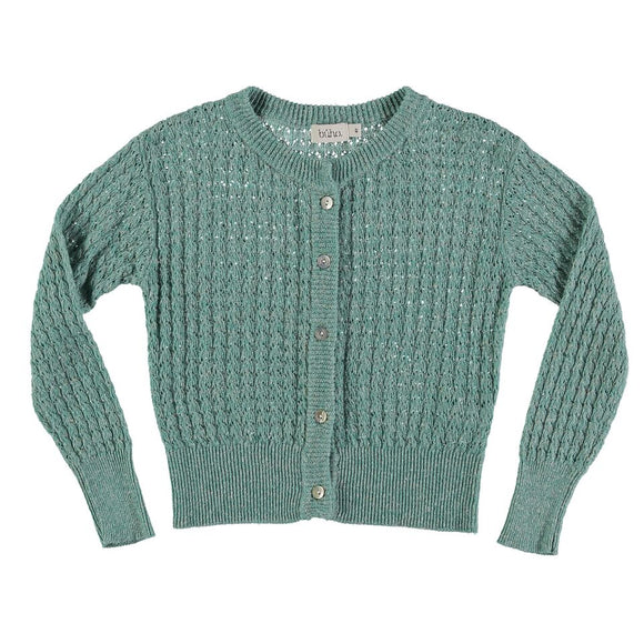 Designer Kids Fashion at Bloom Moda Online Children's Boutique - Búho Amelie Jacquard Cardigan,  Sweaters
