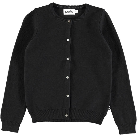Designer Kids Fashion at Bloom Moda Online Children's Boutique - Molo Georgina - Black Cardigan Sweater,  Sweaters