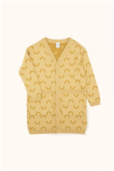 Designer Kids Fashion at Bloom Moda Online Children's Boutique - Tinycottons Semicircles Long Cardigan Sweater,  Sweaters