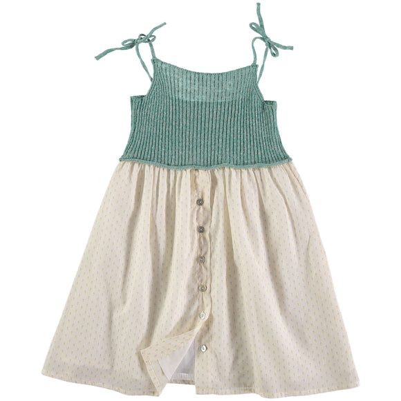 Designer Kids Fashion at Bloom Moda Online Children's Boutique - Búho Alberta Knit & Voile Flower Combi Dress,  Dress