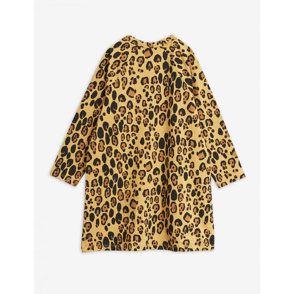 Designer Kids Fashion at Bloom Moda Online Children's Boutique - Mini Rodini Basic Long Sleeve Leopard Dress,  Dress
