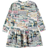 Designer Kids Fashion at Bloom Moda Online Children's Boutique - Molo Cara Dress - Pastel City,  Dress